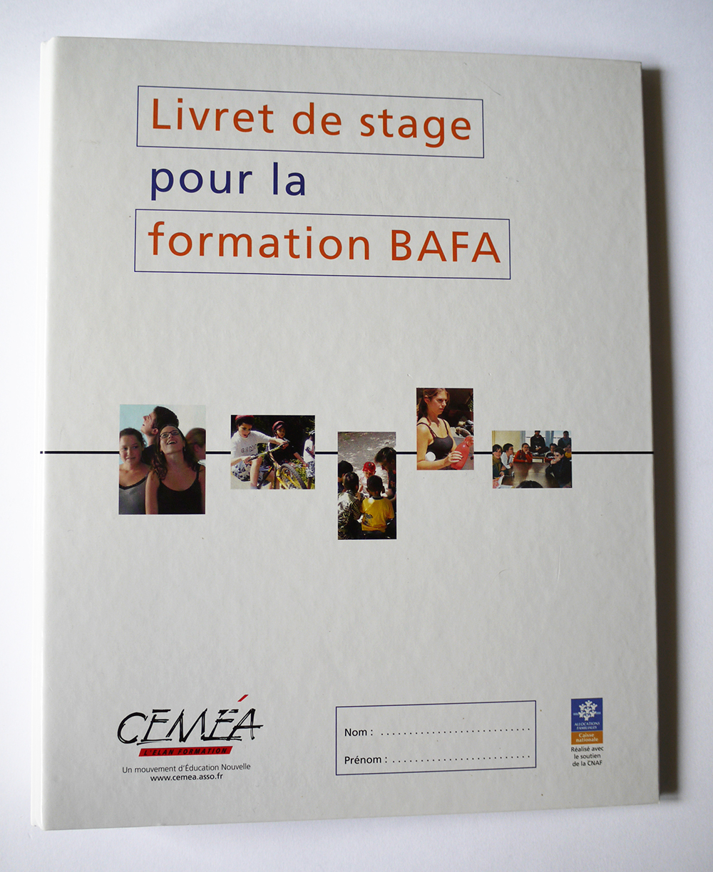 Classeur Livret de stage BAFA