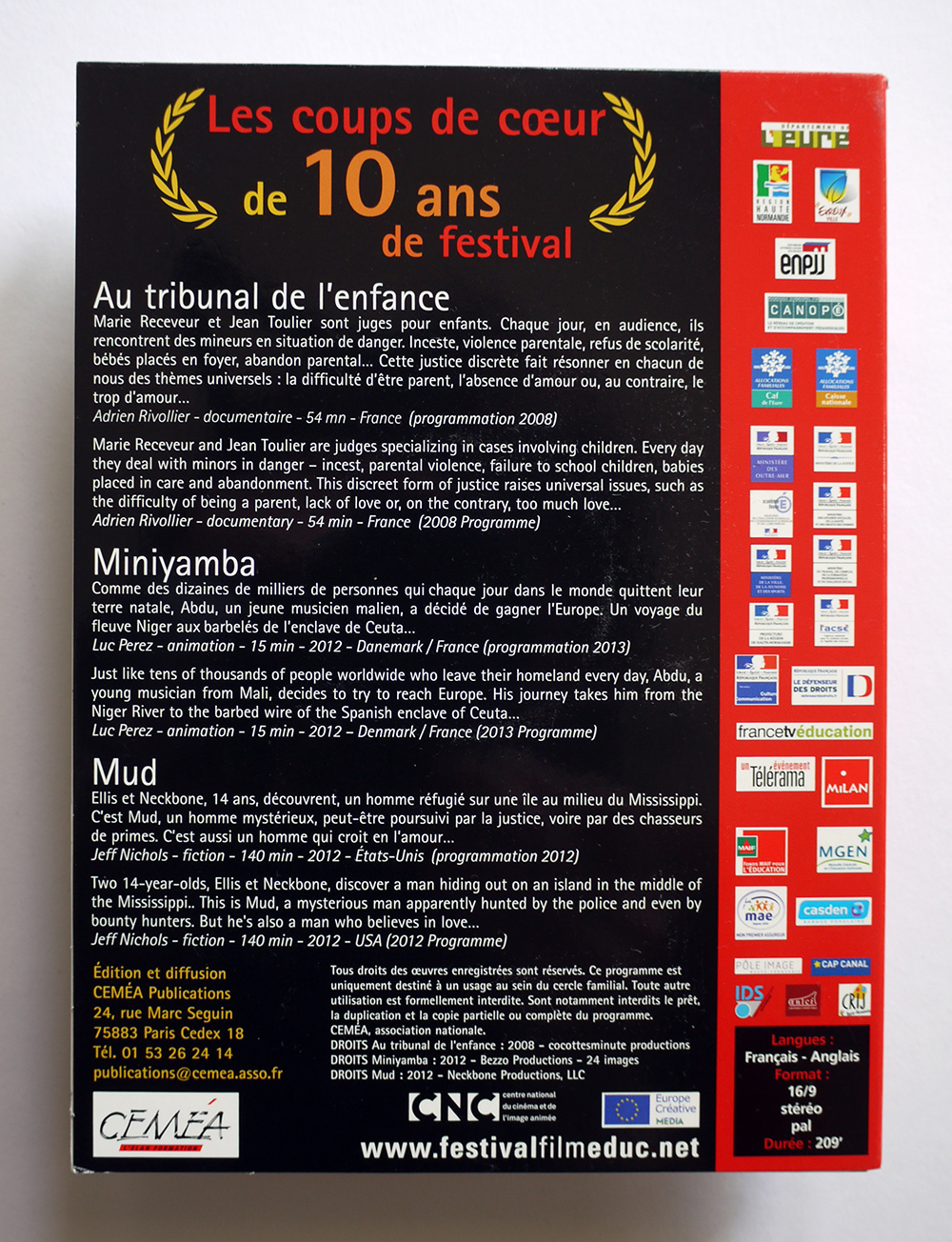 Jaquette Coups de cœur de 10 ans de festival
