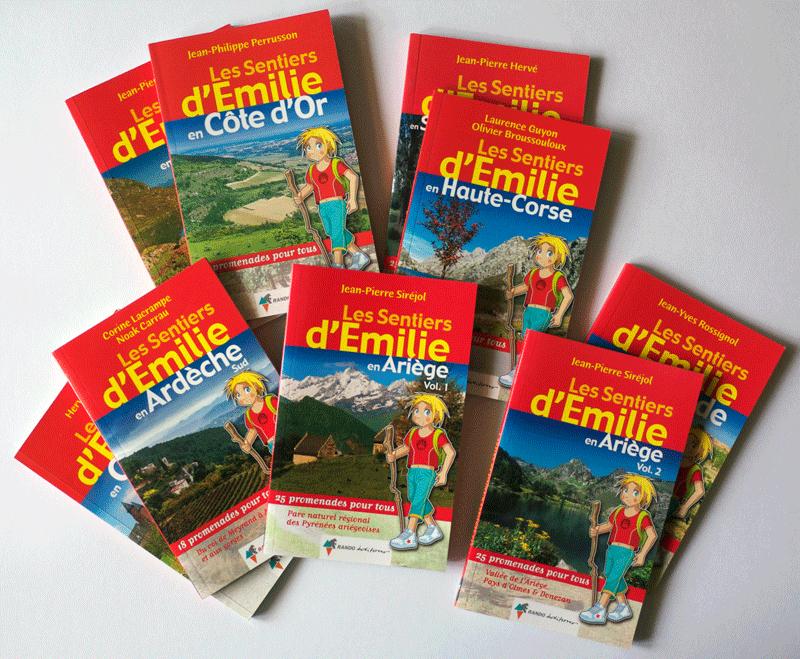 Guides de randonnée Les sentiers d'Émilie