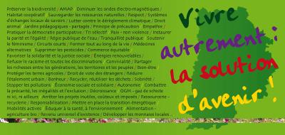 Europe Écologie les Verts Carton vœux